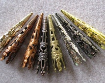 Long Cone Filigree Torch Bead Cap Mix and Match 41mm 343