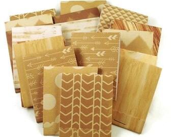 20  Matchbook Notepads  Matchbook Favors in  Natural