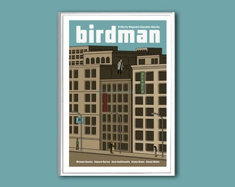 Movie poster Birdman 12x18 inches retro print