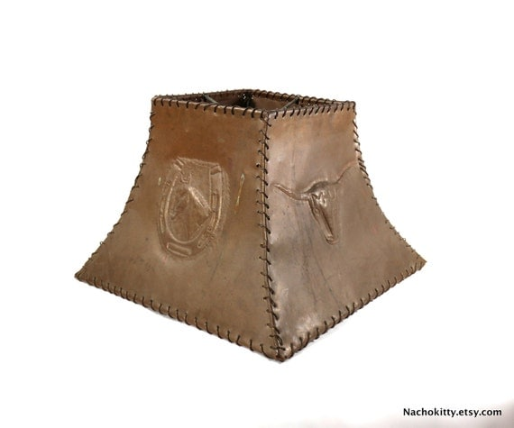 1920s Large Farmhouse Copper Lamp Shade, Handmade Vintage Country Living Decor
