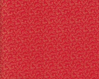 P & B Textiles Metallics Luxury Essentials 664 RX Red Gold Stippling by the yard