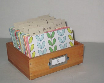 Address Card File…Petite..Rolodex...Wedding Guest Book Alternative...Handcrafted....Organizer...Business Card