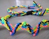 Flat Kumihimo Friendship Bracelet, Adjustable, gift for friend, teen bracelet, string bracelet, handmade bracelet, gift for her, best friend
