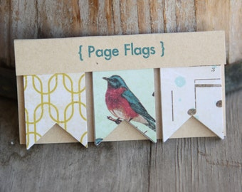 Target faux Page Flags sets, Large, used for planners, cards, scrabooking, smashbooks, pocket letters, lists, pen pals