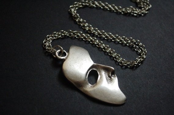 Phantom of the opera mask necklace