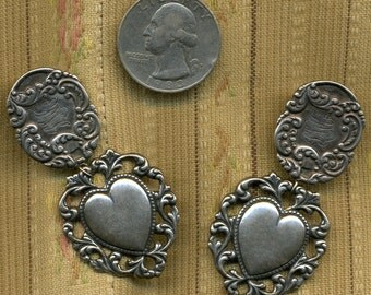 Vintage Victorian Sterling Earrings compiled from parts