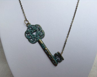 Steampunk Skeleton Key Necklace, Key Jewelry, Key Necklace