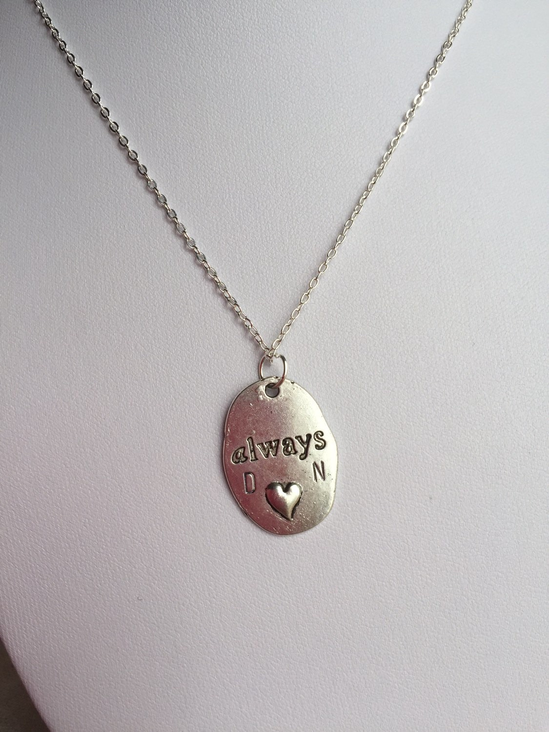 always charm necklace personalized necklace initial necklace