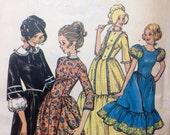Frontier Dress Pattern Butterick Vintage 60s Sewing Pattern Prairie Style Dress Unused Uncut Pattern Size 12 Costume  Dress Bonnet Wild West