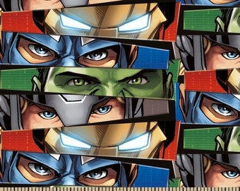 Reserved for Brooke Marvel Eyes Ultron Cotton Fabric extra yard