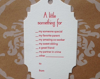 A Little Something For: Choices - set of 3 letterpress gift tags