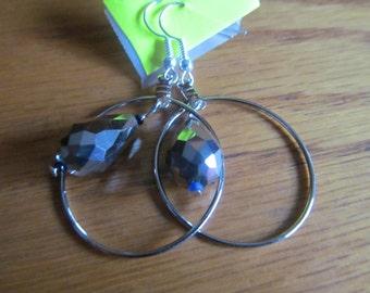 silver glass tear drop