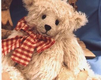 """Baby Ian a 12"""" Teddy Bear pattern by Linda Johnson of BEARDEAUX BEARS"""