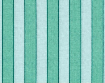 Rosewater Cabana Stripe Mint fabric | Cotton Quilting fabric | Verna Mosquera