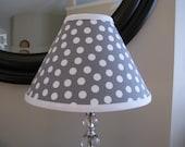 Lamp shade Grey Polka Dot