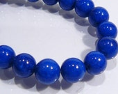 Lapis Blue Color Jade Smooth Round Gemstone Beads....8mm....12 Beads