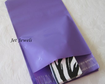 100 Shipping Envelopes, Mailing Envelopes, Purple Mailers, Plastic Shipping Bags, Shipping Supply, Poly Bags, Self Sealing Envelopes 6x9