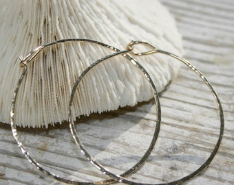 Forged Gold Hoops