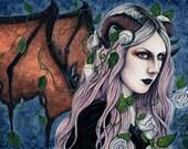 Unseelie ORIGINAL PAINTING Gothic Fairy Art