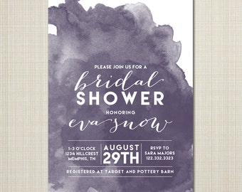 Bridal Shower Invitations - Unique Bridal Shower Invitations - Shower Invitations - Modern Bridal Shower invitation - watercolor bridal.