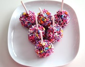 Chocolate Covered Marshmallows with Sprinkles