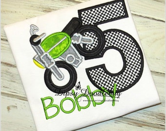 Motorcycle  Birthday Shirt - Motorcycle Birthday Shirt- Dirt Bike Birthday Shirt- Boys Birthday Shirt - Girls Birthday Shirt