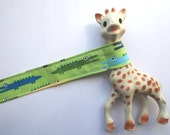 Toy Strap - Toy Leash - Toy Tether - Crocodiles - Alligator - Baby - Gift for Baby - Gift 10 & Under