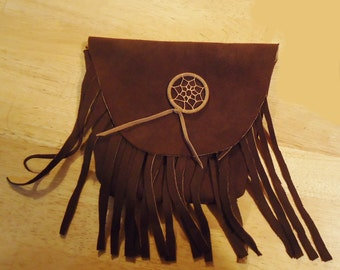 LEATHER BELT POUCH 7 inch Soft Brown