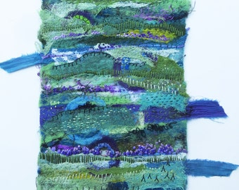 Dreaming: Lavender Fields original textile wall hanging