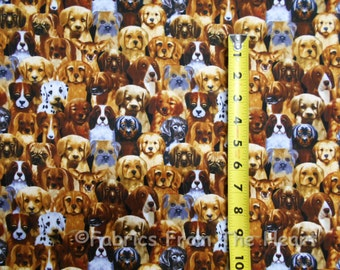 Cute Puppy Dogs Many Breeds Labs Retriever BY YARDS Timeless Treasure Fabric
