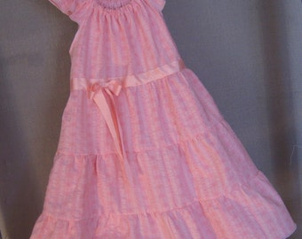 Dress- -Peasant Style -Size 5-Cute Little Sweet in Pink