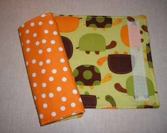 Car Seat Strap Covers . Reversible . Turtles
