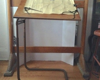 Vintage Adjustable Petite Industrial Machine Age Drafting Table