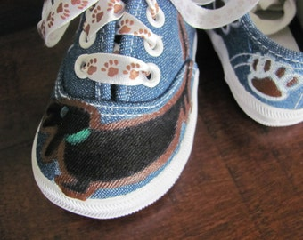 Dachshund weiner dog hand painted shoes