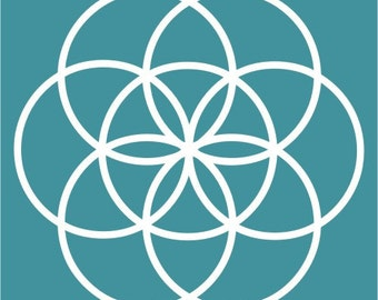 Seed of life sacred geometry white vinyl decal