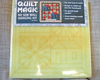 "Quilt Magic Foamboard, Schoolhouse #215. No Sew Quilt 12 x 12"" DIY Wallhanging. Quilt Design Craft Project for Kids or Adults."