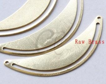 10pcs Raw Brass Half Circle Link - Pendant - Charm 50.6x18mm (1989C-F-504)