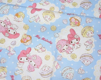 ON SALE 1 meter Sanrio fabric my melody and sweets