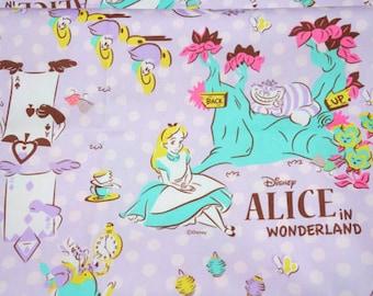 Disney Fabric  Alice in Wonderland 1 meter 100 cm by 106 cm or 39 by 42