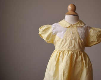 1940s Spring Embroidered Dress~Size 18 Months