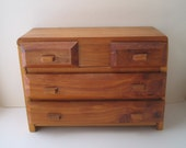 Vintage wooden jewelry box Doll chest Handmade