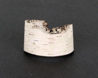 Birch bark bracelet, Textura