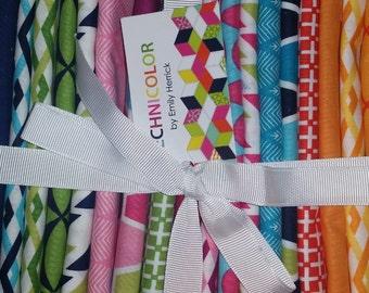 Technicolor Fat Quarter Bundle Michael Miller -quilting cotton fabrics