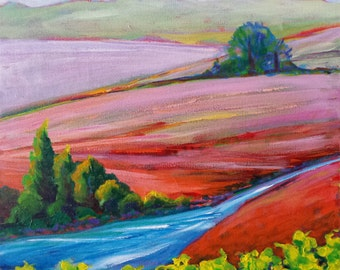 Valley Morning 20 original acrylic nature painting