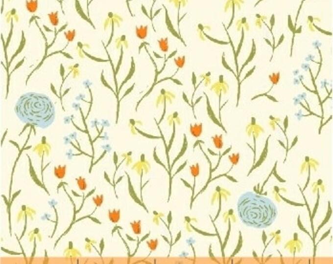Far Far Away Cotton Fabric by Heather Ross,  Clover - HR39659 Blue, 2 Fat  Quarters