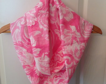 Infinity linen cotton infinity scarf hand made ready to ship beautiful colors
