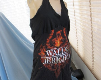 SALE - Walls of Jericho Halter Dress - S/M (4561)