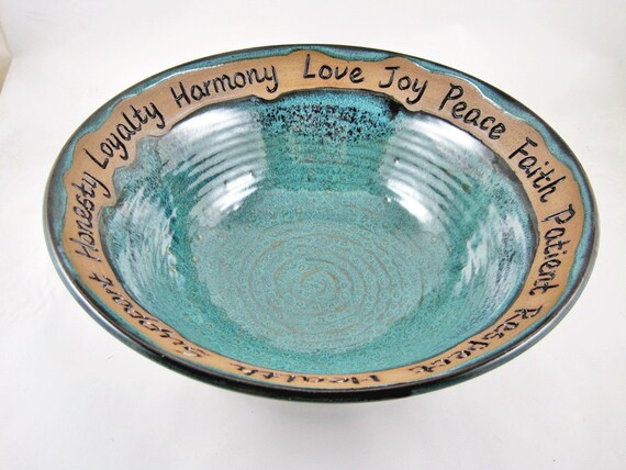 9th Anniversary Pottery For Wedding: Pottery Bowl 9th Anniversary Gift Wedding Gift By
