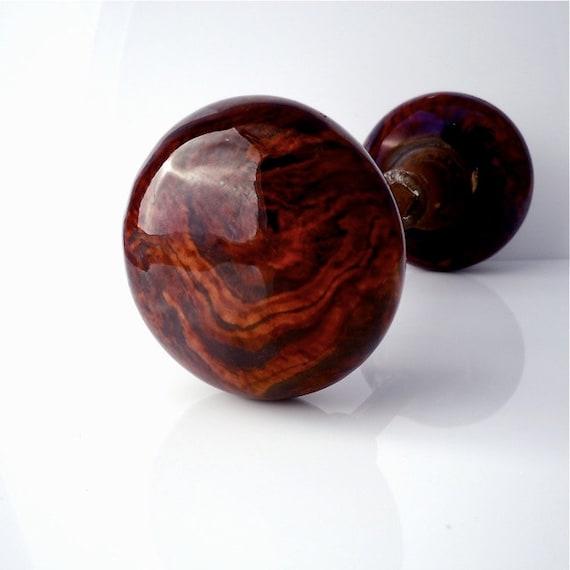 brown swirl porcelain door knobs 2