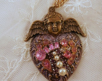 On Sale Pretty in Pink Heart Pendant